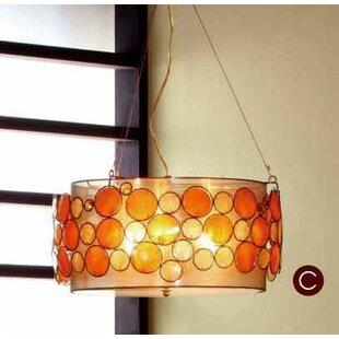Capiz Shell 3 Light Pendant By Ok Lighting
