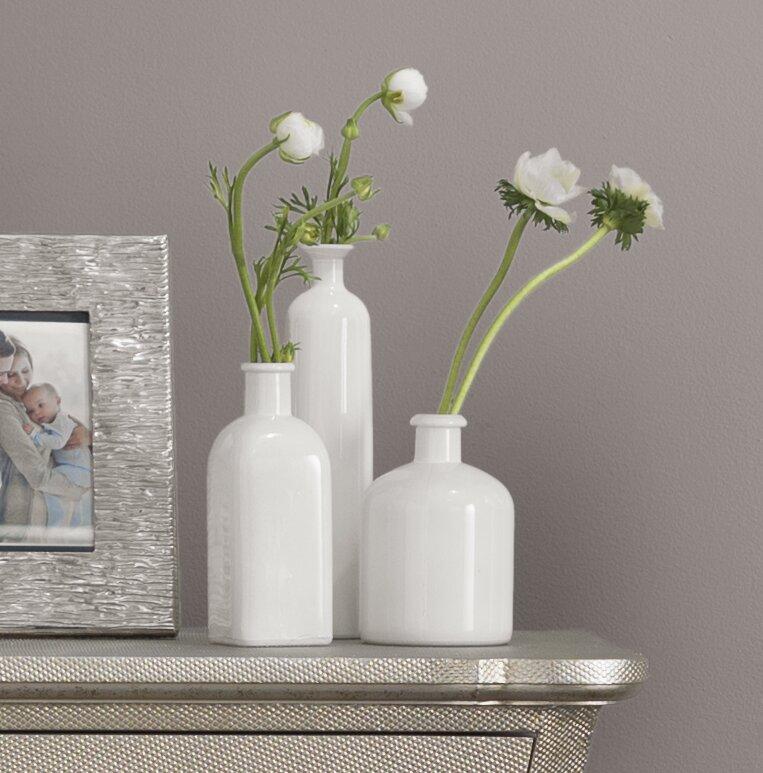 Lark Manor 3 Piece White Table Vase Set Reviews Wayfair
