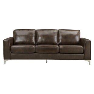 Tan Faux Leather Sofa   Wayfair