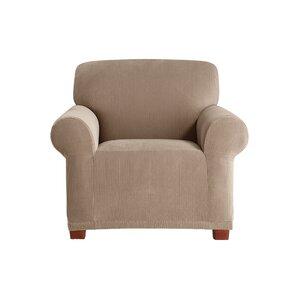 Stretch Pixel Box Cushion Armchair Slipcover