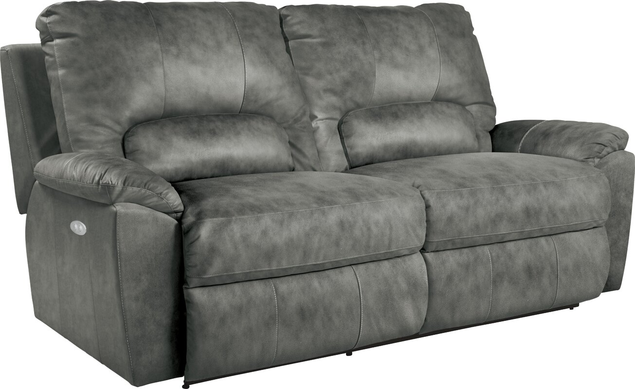 Charger Power La-Z-Time Leather Reclining Sofa