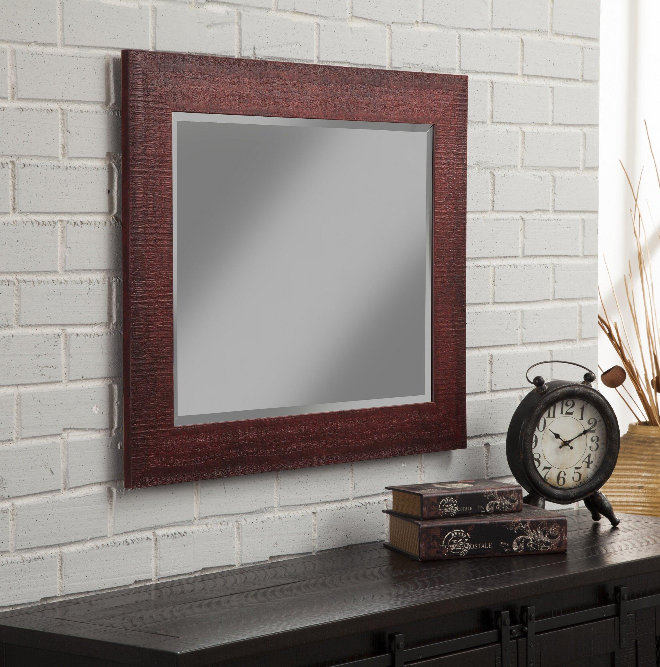 Gracie oaks gillett rustic wall mirror reviews wayfair