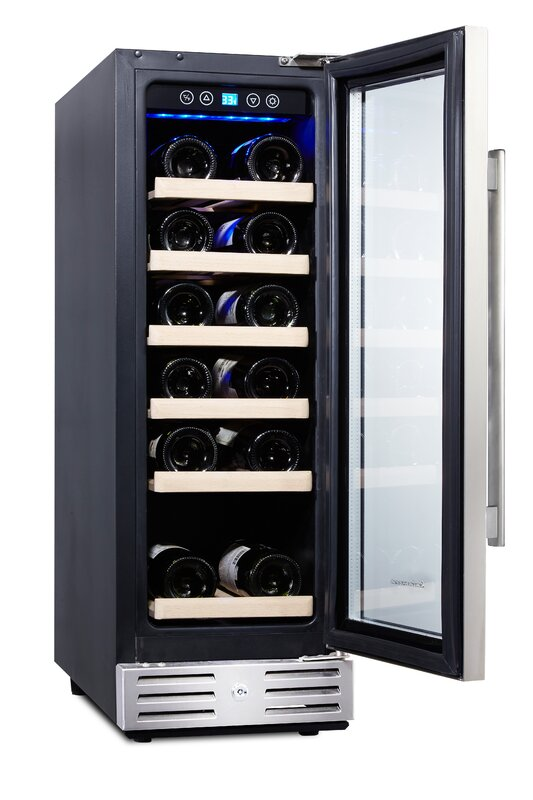 Kalamera 18 Bottle Single Zone Built In Wine Cooler