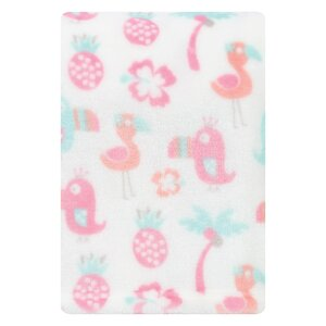 Tropical Pastel Plush Baby Blanket