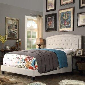 gabriel upholstered panel bed - Double Bed Frames
