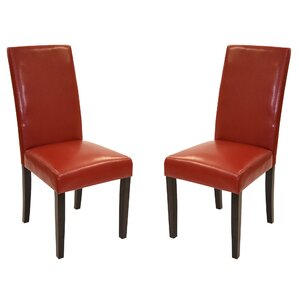 Great Genuine Leather Upholstered Dining Chair (Set Of 2)