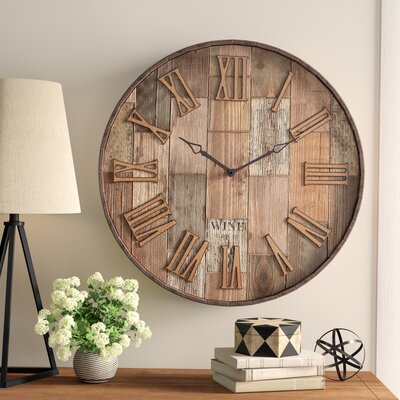 Birch Lane™ Heritage Malbec 28 Wall Clock