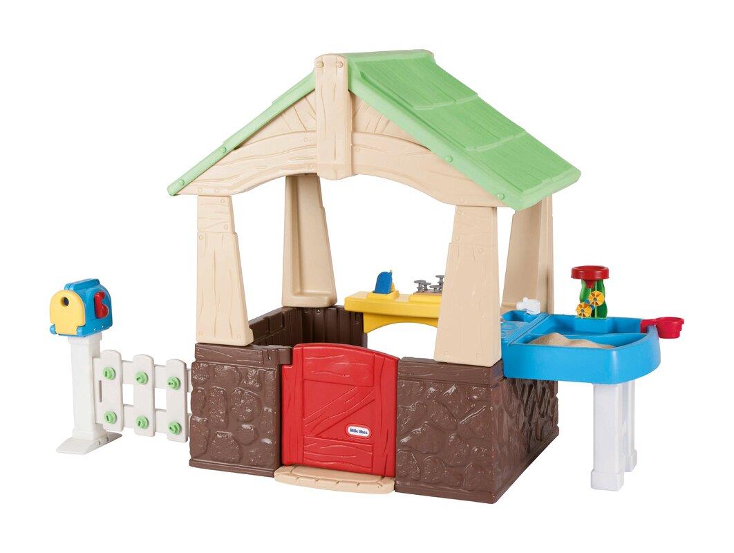 Little Tikes Deluxe Home and Garden Playhouse & Reviews | Wayfair
