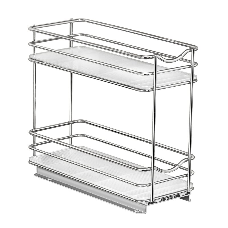 Lynk Professional Slide Out Spice Rack Two Tier 4 Wide Reviews