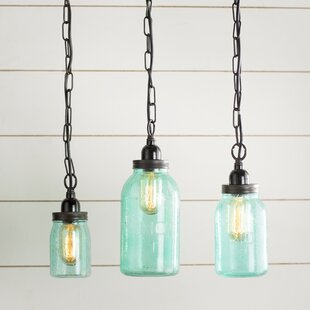 Mason jar pendant light kit wayfair norgate mason jar mini pendant set set of 3 aloadofball Choice Image