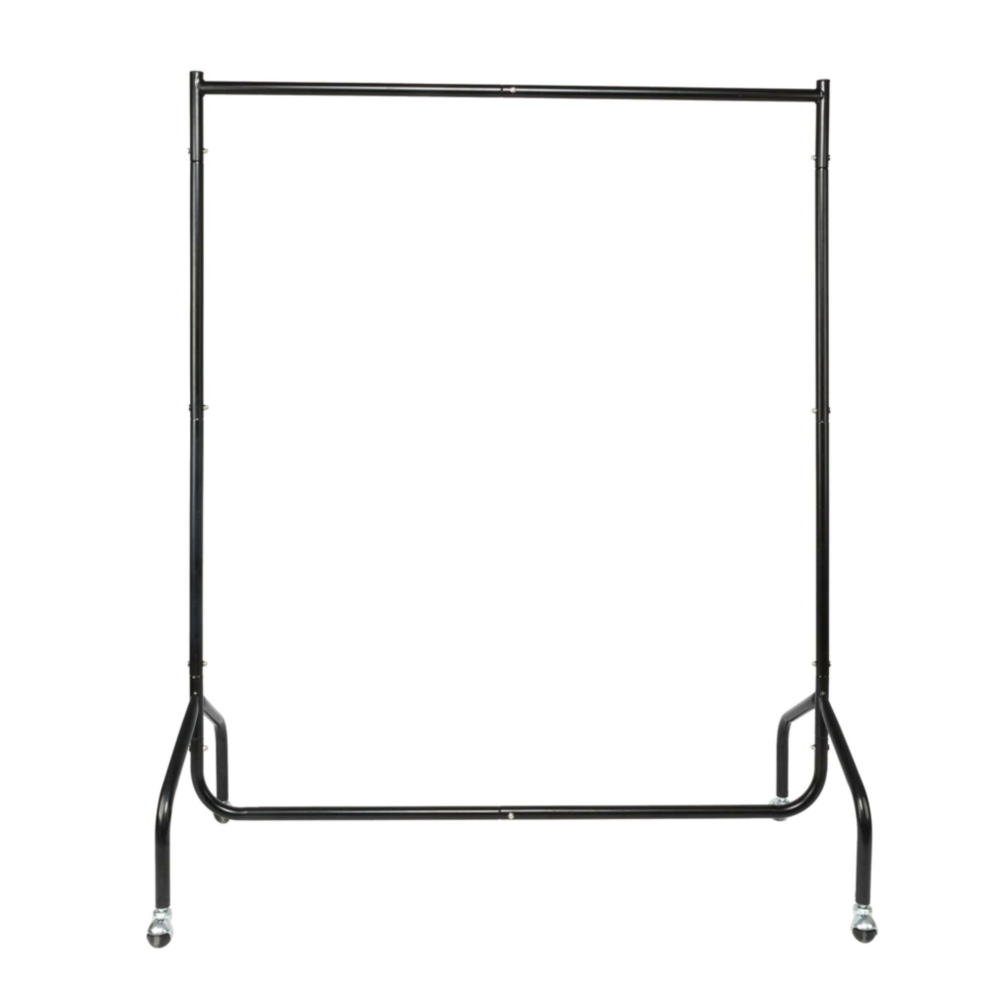 Rebrilliant Elkin 2 Sections Moveable Portable Clothes Rack & Reviews