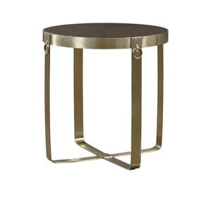 Kattan Round End Table by Everly Quinn