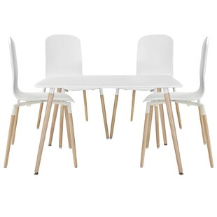 Stack Wood 5 Piece Dining Set