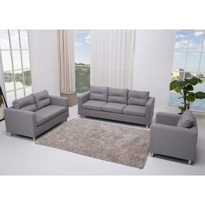 Clarence 3 Piece Living Room Set