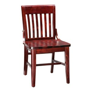 Amoroso Beechwood School House Solid Wood Seat Dining Chair by Red Barrel Studio