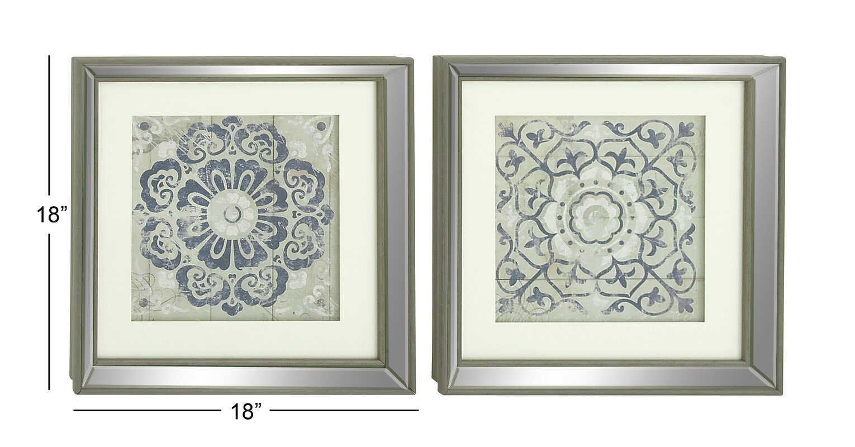 Great Polystone Mirror Framed Wall Art Set (Set Of 2)