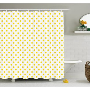 Picnic Like Cute 50s 60s 70s Themed Spotted Pattern Print Shower Curtain Set