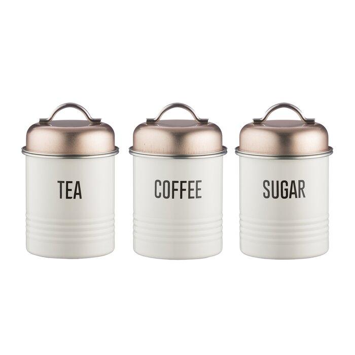 Kitchen Canisters Jars Vintage Copper Sugar Tea Coffee