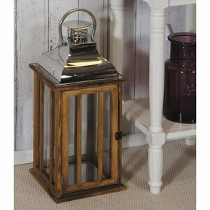Exley Wood/Glass Lantern
