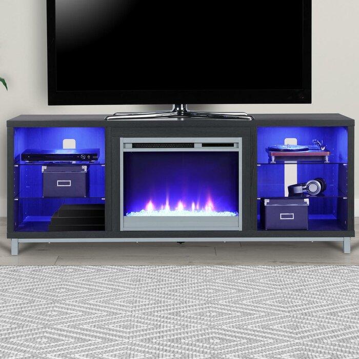 tv fireplace stand. ilyse 70\ tv fireplace stand