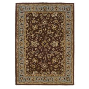 Beyers Hand-Tufted Brown Area Rug