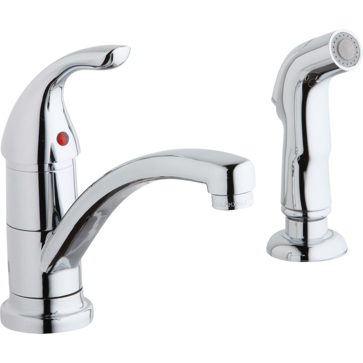 Elkay Single Handle Kitchen Faucet With Side Spray Wayfair The Wiring Above Can Be Used For Time Switches As Energy