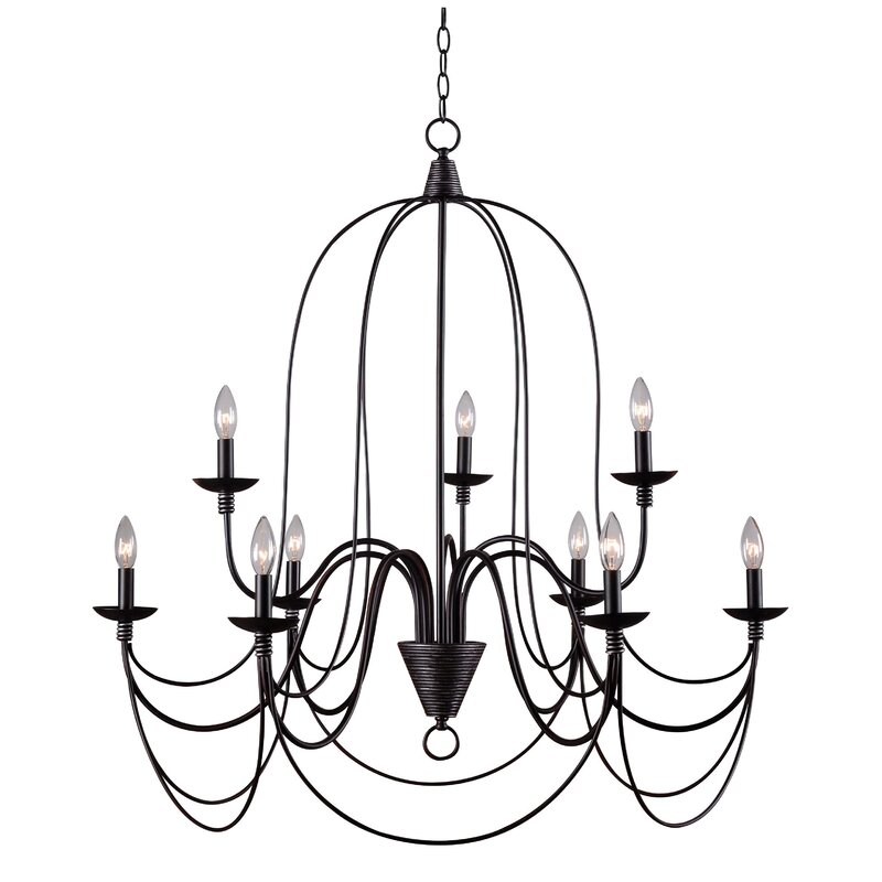 Kollman 9 Light Candle Style Chandelier Reviews