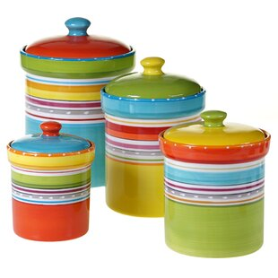 Giddings 4 Piece Kitchen Canister Set