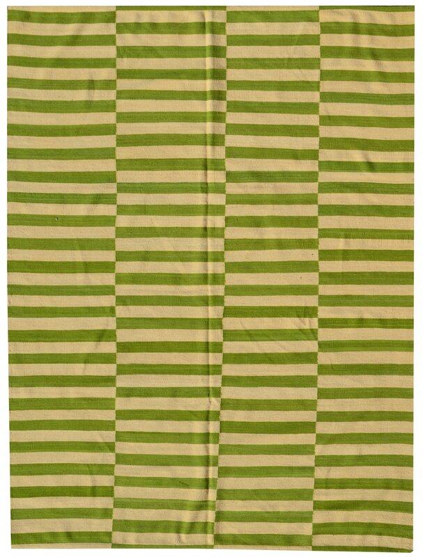 longweave handgefertigter kelim teppich diana aus wolle in gr n beige bewertungen. Black Bedroom Furniture Sets. Home Design Ideas
