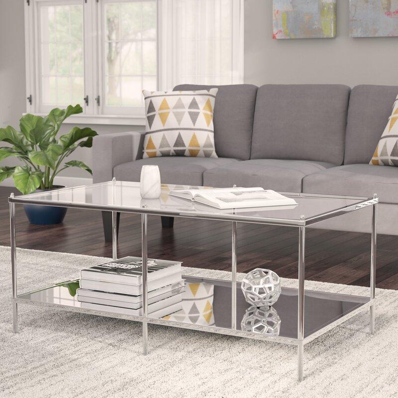 Latitude Run Busey Glam Mirrored Coffee Table & Reviews