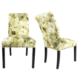 Francesca Curve Back Upholstered Parsons Chair (Set of 2) by Darby Home Co