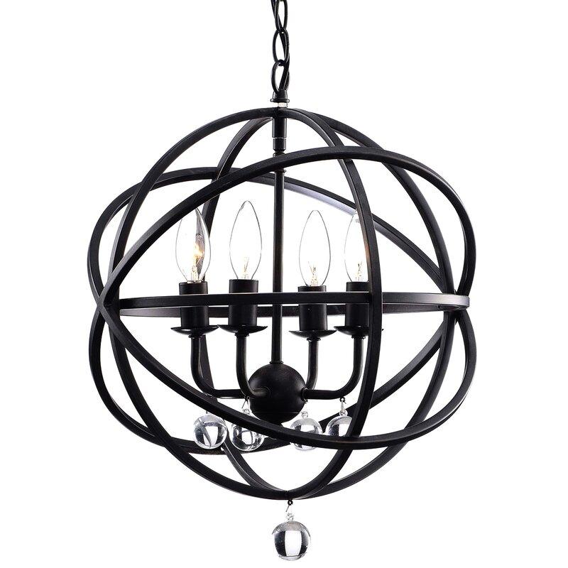 Willa Arlo Interiors Dalveen 4 Light Globe Pendant