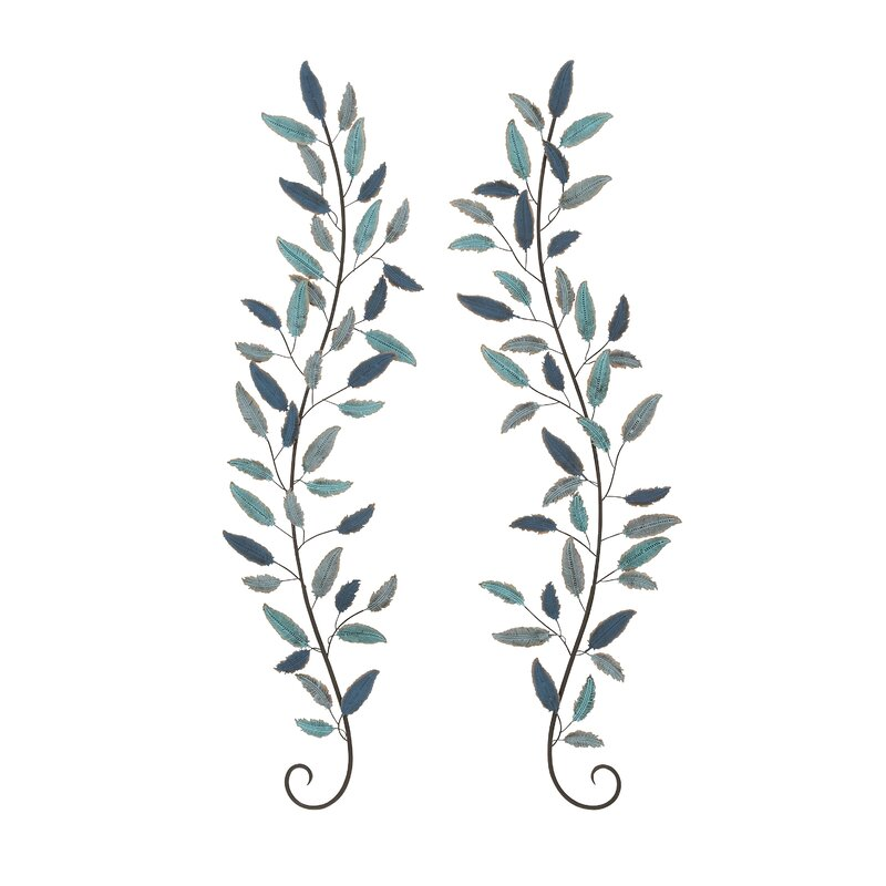 superior Metal Leaves Wall Decor Part - 8: Cole u0026 Grey 2 Piece Metal Leaf Wall Décor Set u0026 Reviews | Wayfair