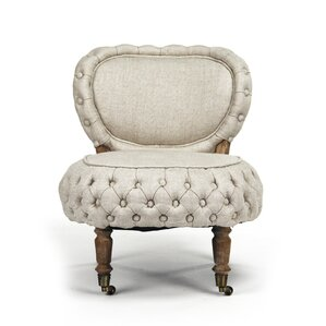 Sylvie Tufted Slipper Chair by Zentique Inc.