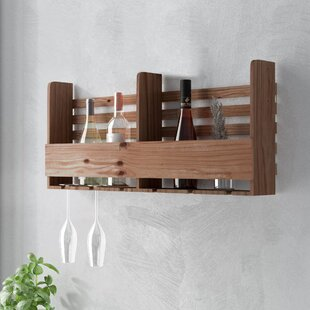 Halima Reclaimed Wood Pallet 6 Bottle Wall Mounted Wine Rack