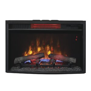 Hoyne Curved Infrared Quartz Wall Mounted Fireplace Insert by Winston Porter