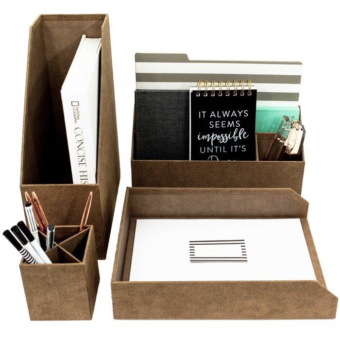 Oconnell 4 Piece Desk Organizer Set