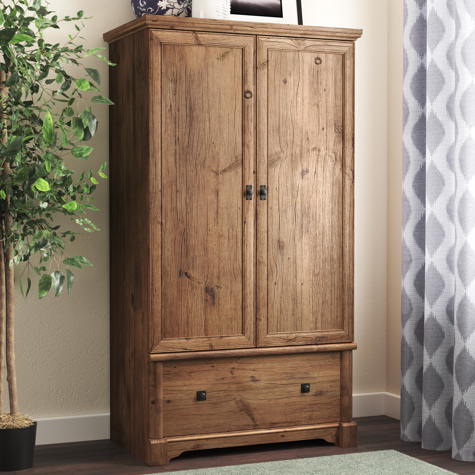 Three Posts Orviston Armoire Reviews Wayfair