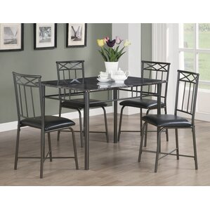 5 Piece Dining Set by Monarch Specialties Inc.