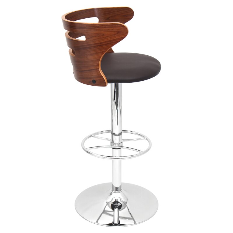 Wade Logan Lafayette Adjustable Height Swivel Bar Stool