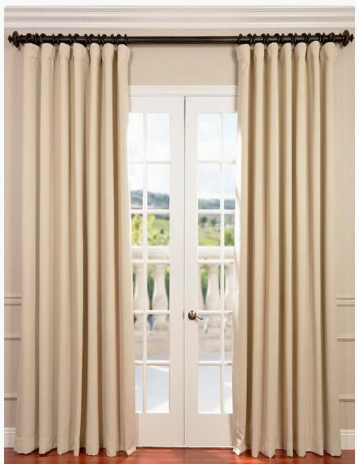 Aldreda Extra Wide Solid Blackout Thermal Rod Pocket Single Curtain Panel Reviews Birch Lane