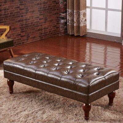 Premium Faux Leather Bench Corzano Designs Color: Dark Brown