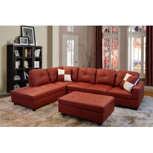 SectionalRed Sectional Sofas   Wayfair. Red Sectional Living Room Furniture. Home Design Ideas