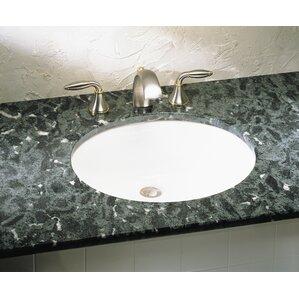 ovalyn oval undermount bathroom sink with overflow