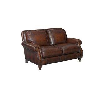 goldhorn leather loveseat
