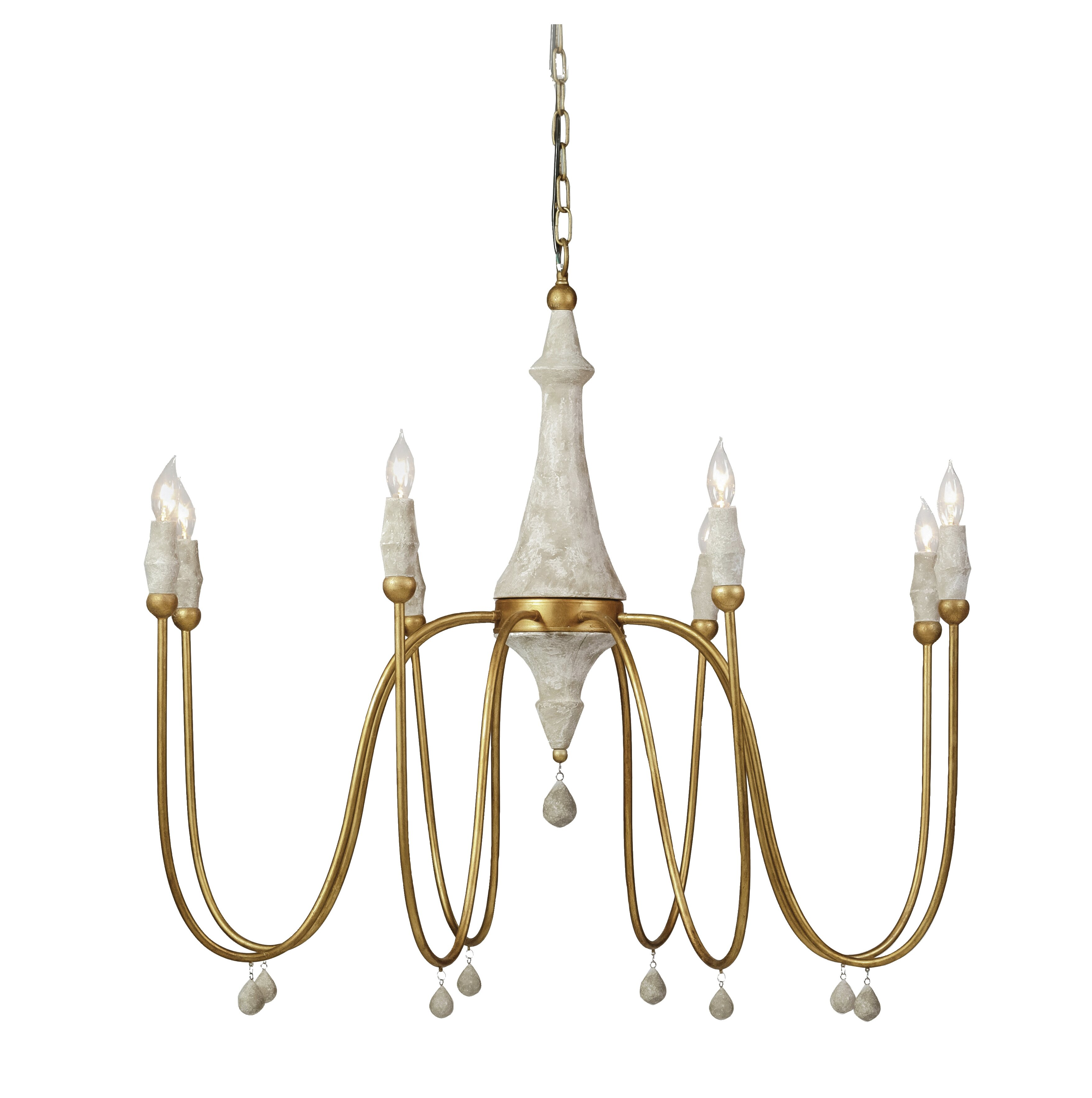 Gabby Clay 8 Light Chandelier Reviews Wayfair How To Install A Stylish