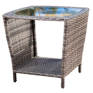 Outdoor Wicker Side Table Gray Wayfair - All weather wicker side table