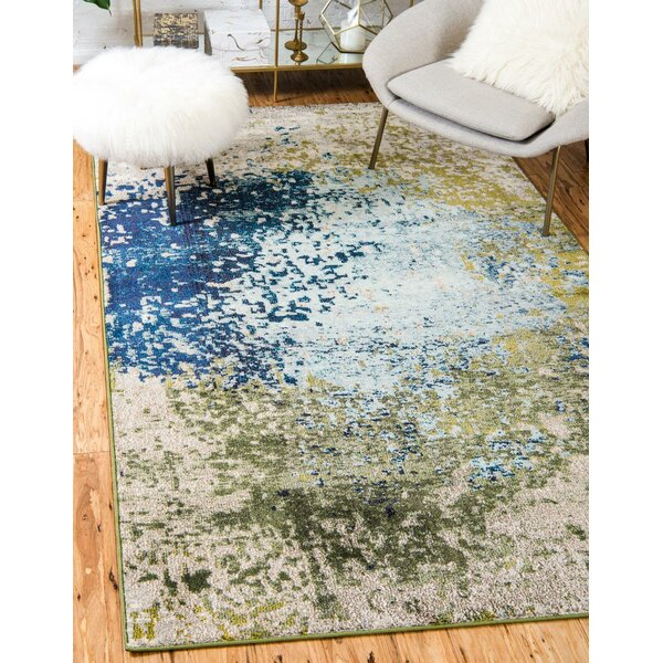 World Menagerie Hayes Blue/Green Area Rug & Reviews