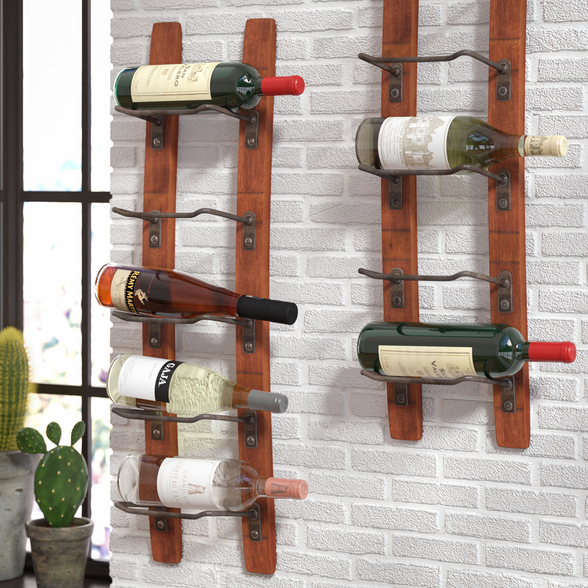 Blackburn 5 Bottle Wall Mounted Wine Rack Reviews Birch Lane