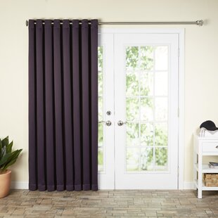 Wayfair Basics Solid Blackout Grommet Single Patio Curtain Panel